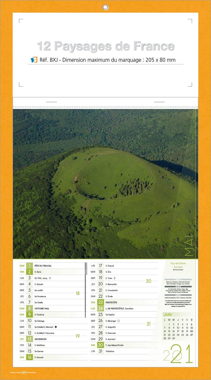 Bloc illustr paysage fran ais calendriers publicitaires for Paysage francais