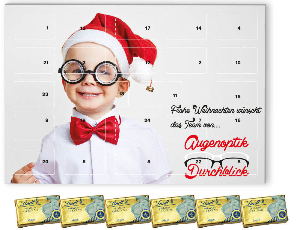 Calendrier Avent Personnalise