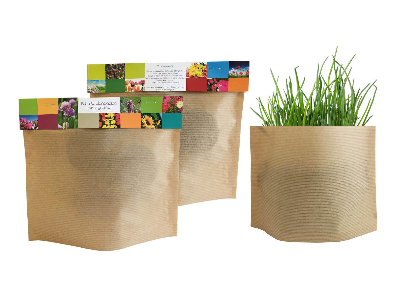 Pot kraft easy publicitaire outils de jardinage for Objet de jardinage