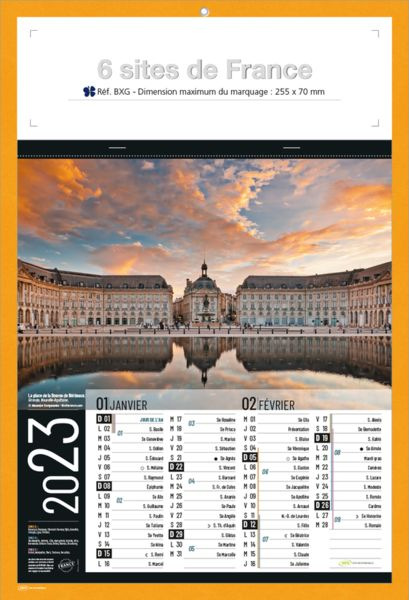 Calendrier bloc publicitaire | Sites de France 5