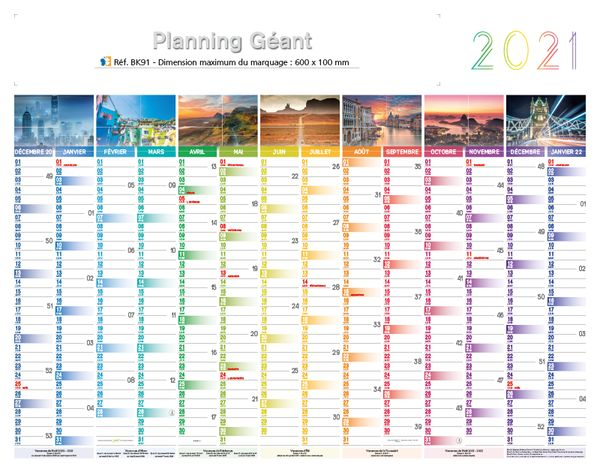 Calendrier Geant.Calendrier Planning Effacable Calendriers Publicitaires