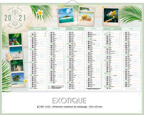 calendriers paysages