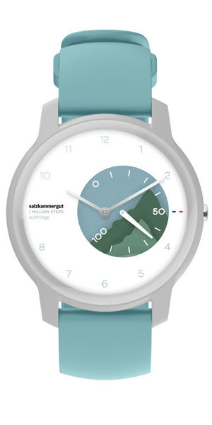 Montre connectée publicitaire | Withings Turquoise