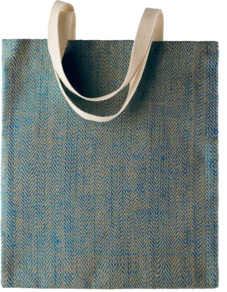Sac shopping publicitaire | Sopron Natural   Ink blue