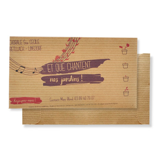 Sachet de Graines Kraft promotionnel