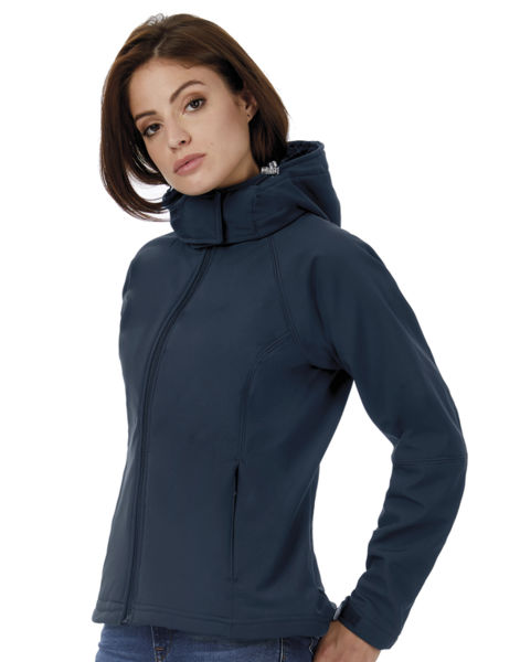 Softshell publicitaire | Hooded F Navy