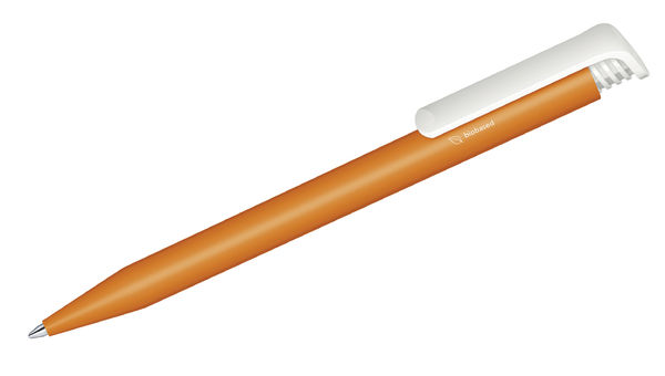 Stylo bille publicitaire | Super Hit Bio Orange 021 Blanc