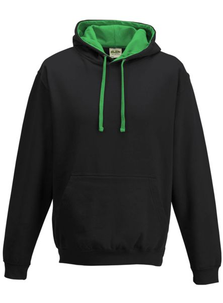 Sweat publicitaire | Varsity Jet Black Kelly Green