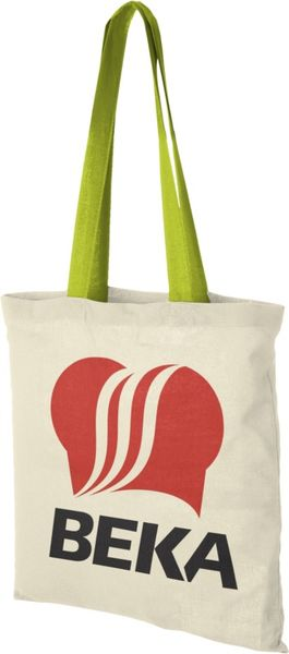 Tote bag personnalisable | Nevada Naturel Vert pomme 2