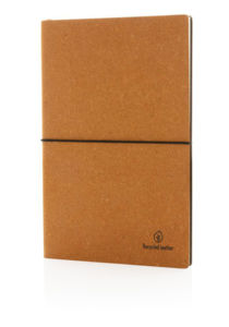 Carnet A5 publicitaire | Cuir Recy Brown