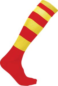 Chaussettes publicitaires | Circle Sporty red  Sporty yellow