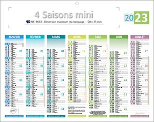 minis calendriers 4 saisons