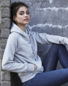 Sweat personnalisé | Hooded F Heather Grey