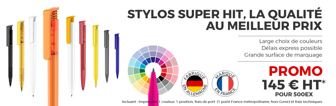 Promotion Super HIT - Stylos publicitaires